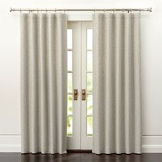 Desmond Dark Grey Cotton Curtain Panel 50x84 + Reviews | Crate and Barrel