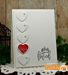 A free community featuring card making, stamping techniques and project videos for papercrafters featuring stamps by Gina K. Love Valentines, Valentine Day Cards, Valentine Ideas, Holiday Cards, Stamp Tv, Luxury Card, Thing 1, Heart Cards, Love Cards
