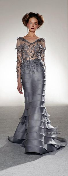Gown is beautiful - the model, not so much. Georges Chakra Fall Winter 2013-14 Haute Couture