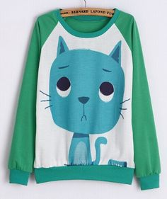 Blue Kitty Sweatshirt