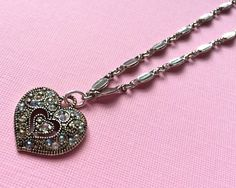 $17.00.  Sweet Victorian-inspired necklace for Valentines Day -- or any other days. Fav Vendor.
