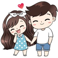 cute love cartoons This love for you, send your love to your couple. Its so sweet. Love Cartoon Couple, Cute Love Cartoons, Anime Love Couple, Cute Couple Drawings, Cute Couple Art, Cute Couples, Cute Chibi Couple, Couples Quotes Love, Sweet Couple