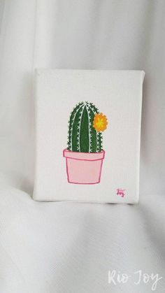 painting - Cactus Painting Succulent Series Small Canvas Minimalist Whims. -Cactus painting - Cactus Painting Succulent Series Small Canvas Minimalist Whims. Small Canvas Paintings, Small Canvas Art, Cute Paintings, Easy Canvas Painting, Mini Canvas Art, Diy Canvas, Canvas Ideas, Painting Canvas, Acrylic Paintings