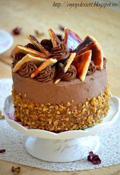 Gourmet Cakes, Food Cakes, Cupcake Cakes, Cupcakes, Dobos Torte Recipe, Cake Recipes, Dessert Recipes, Kolaci I Torte, British Baking