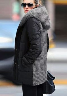 Double-Breasted Down Coat