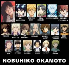 Voice Actor: Nobuhiko Okamoto. My favorite is how it goes from Usui and Rin and Kisa