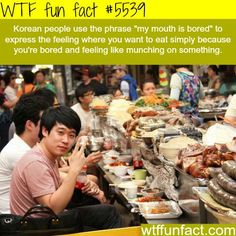 My mouth is bored - WTF fun facts