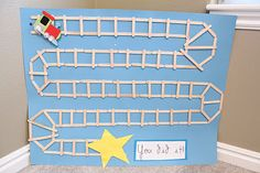"""Potty """"Train"""" Chart... This will be my upcoming project to help my little boy potty train using an actual choo choo train...  Each advancement of the track will give a small reward & when all the train reaches the end of the track, a hug reward is given (Maybe a real choo choo train ride)... SOOO SMART"""