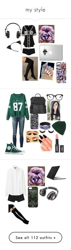 """""""my style"""" by amalabdiwarrior ❤ liked on Polyvore featuring LE3NO, Marni, Hue, Master & Dynamic, J Brand, Converse, Topshop, Forever 21, House of Holland and Calvin Klein Underwear"""