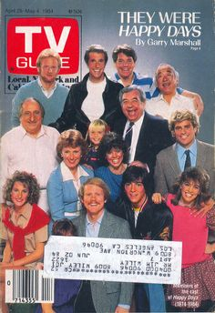 The cast of Happy Days on the cover of TV Guide (April 28, 1984)