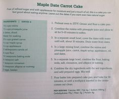 Maple Date Carrot Cake