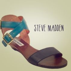 Steve Madden Rascal Flats/sandals! It is time to ditch the winter boots, get a pedicure, and slip your tootsies into a new pair of sandals. They are the perfect blend of casual and dressy, and feature a tiny heel making them perfect for all-day wear! Leather upper. Steve Madden Shoes Flats & Loafers
