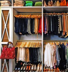 Organized closet. Love it