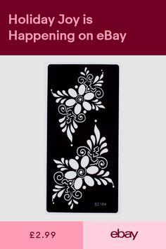 Henna Health & Beauty #ebay Diy Tattoo, Henna Tattoo Stencils, Henna Arm, Hand Henna, Book Silhouette, Glass Etching Stencils, Cricut Stencils, Flower Henna, Flora Flowers