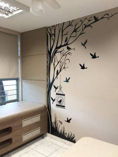 "Acquire fantastic recommendations on ""metal tree wall art hobby lobby"". They are actually accessible for you on our web site. Simple Wall Paintings, Creative Wall Painting, Wall Painting Decor, Creative Walls, Room Wall Decor, Bedroom Decor, Interior Wall Paintings, Wall Stickers Home Decor, Diy Wand"