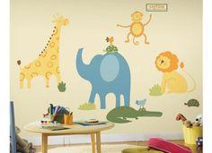 RoomMates Mega Pack Wandsticker Wandtattoo Wandbild ZootiereGib dem Affen etwas Zucker und bringe den Charme und den Spaß eines niedlichen und farbenfrohen Zoos an Deine Wand! Alle Deine Lieblingstiere kann ich sehen: die langhalsige Giraffe, den wilden Löwen, das gefräßige Krokodil, den riesigen Elefanten, die gemächliche Schildkröte und den frechen Affen. Mit dem RoomMates Mega Pack Wandsticker Zootiere hast Du eine Menge Spaß für die Wand.