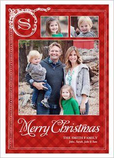 Corner Monogram Christmas Card
