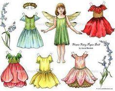 Fairy paper dolls