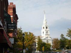 quaint New England villages. Middlebury, Vermont.