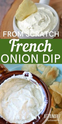 Real Food Recipes, Snack Recipes, Cooking Recipes, Snacks, Yummy Food, Sauce Pour Chips, Dips Für Chips, Chip Dips, Homemade French Onion Dip