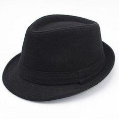 96431d4a701 Stylish Simple Solid Color Felt Fedora For Men  Mensaccessories Men Dress