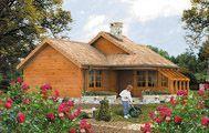 Projekt Domu drewnianego Szyper o konstrukcji szkieletowej z izolacją poliuretanową