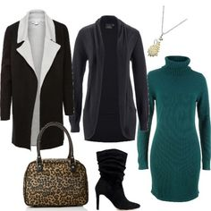 Verde smeraldo e borsa leopardata Verde Smeraldo, Office Wear, Frocks, Style Ideas, Aurora, Fashion Ideas, Outfit Ideas, Dresses With Sleeves, Closet