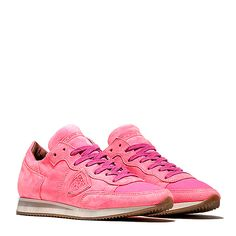 Philippe Model Damen Sneaker Tropez Neon Fuxia bei SAILERstyle Shops, Trends, Designer, High Tops, Baskets, High Top Sneakers, Neon, Model, Fashion