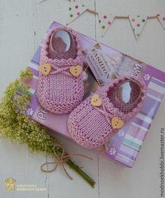 """Купить """"Счастливые моменты!"""" следочки-туфельки для девочки - бледно-сиреневый, однотонный, пинетки, пинетки для новорожденных ♡"""
