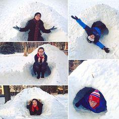 Some more pics from yesterday's #WinterOrangeCrew exploration of Laura Jeffery Academy's igloos. It was pretty chill  #MaxG #studentposts #heymac by macalesterorange