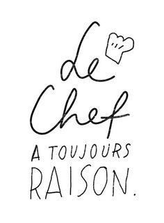 French cuisine Art Le Chef 11 x 15 beaux-arts par anek sur Etsy
