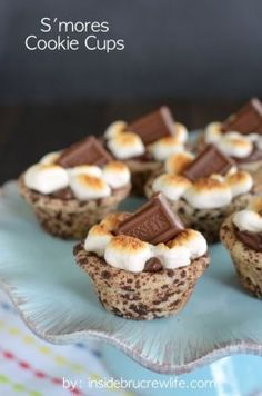 We'll take seven. S'mores cookie cups #BabyCenterBlog