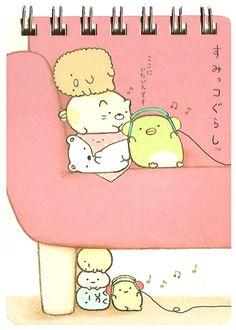 Sumikko Gurashi Couch Hard-Cover Spiral Notebook