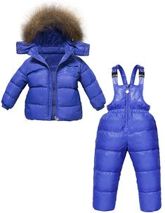 VEKDONE Baby//Infant//Toddler Chest High Insulated Snow Bib Overalls Best Snowsuit