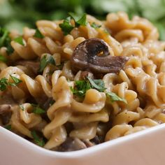 Mushroom Stroganoff Recipe by Tasty