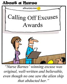 funny lists of excuses