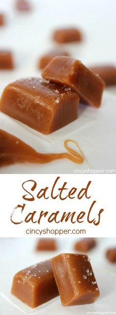 """Salted Caramels Recipe (Great for Gift Giving)- If you are a fan of caramels you are going to be """"oohing"""" and """"awing"""" over these homemade salted caramels"""