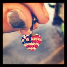 American flag belly button ring
