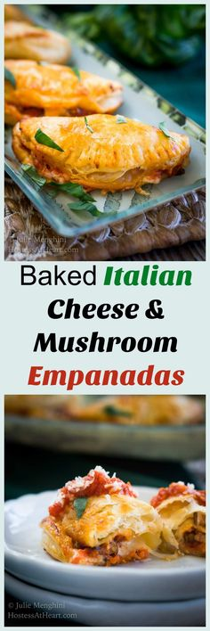 This Baked Italian Cheese Mushroom Empanada recipe makes an amazing #appetizer or delicious meal. They're quick, easy, and everyone's going to love them. #ad #CheeseLove @crystalfarmscheese | Appetizers For Party | cheese empanada recipe via @HostessAtHeart