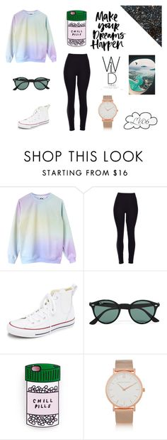 """Just Chill"" by lucyville on Polyvore featuring Converse, Ray-Ban, Larsson & Jennings, women's clothing, women, female, woman, misses and juniors"