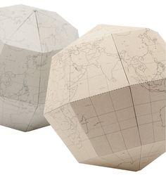 #map #globe #paper #craft
