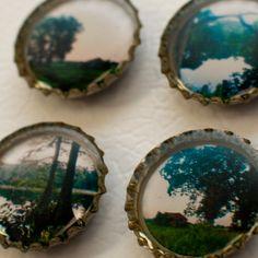 bottle cap picture magnets?