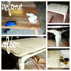 My first distressing/antiquing project! Kitchen Table Redo