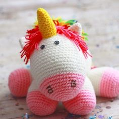 A Stuffed Crocheted Unicorn Makes the Cutest Party Centerpiece {and toy after} - from Photo Props and Pals