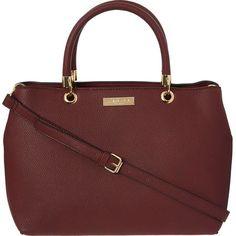 Wine Grained Tote Bag Handbag Accessories, Women Accessories, Tk Maxx, Wine, Handbags, Tote Bag, Stuff To Buy, Totes, Purse