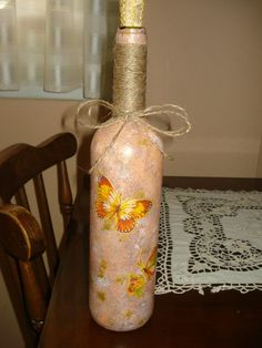 Salmon pink bottle with butterflies!!!