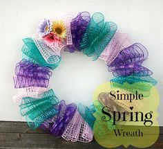Seven Alive: Simple Spring Wreath