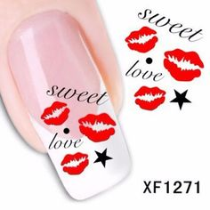 Colorful Stylish Art Sticker Tips Decoration Manicure Nail Paste-0.79 and Free Shipping| GearBest.com #nailart