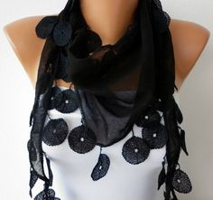 Pretty adorable scarves at this seller. $15