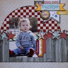 You are my curious little one - Scrapbook.com by tracey